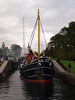 Clyde Puffer VIC32 coming down the Caledonian Canal through Neptune's Staircase. Photograph taken at the lower loch of Neptune's Staircase.