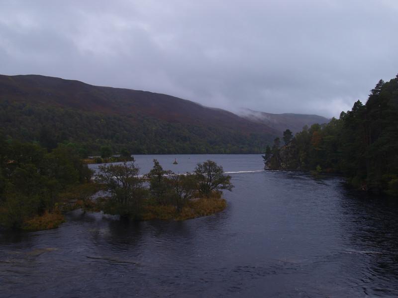 The River Oich looking toward Loch Oich.