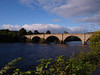 River Tay, Dunkeld. The bridge over the river joining the towns of Birnam and Dunkeld was built by Thomas Telford in 1809.