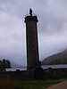 Glenfinnan Monument to the 1745 Jacobite Uprising. The banks of Loch Shiel at Glenfinnan was reputedly the site of the raising of Bonnie Price Charlie's standard.