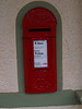 Wall mounted letter box at Glenfinnan Station / Museum.