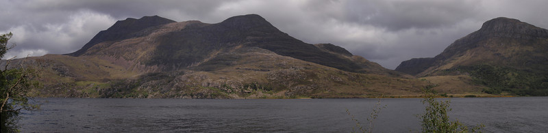 Loch Maree and Slioch, Wester Ross<br /> <br /> Viewed from Coillie Na Glas-Leitire car park and picnic area.