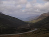 View down Glen Docherty to Loch Maree and Kinlochewe.