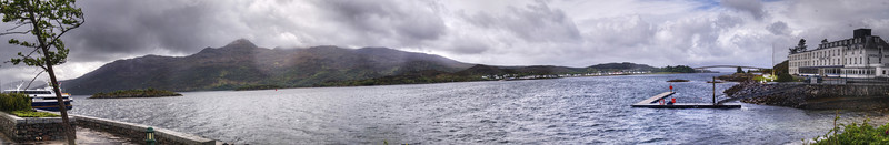 The Isle of Skye as seen from Kyle of Lochalsh.