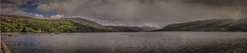 Looking down Loch Broom from Ullapool Harbour.