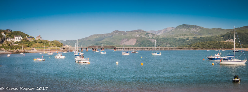 Barmouth Rail Bridge and Harbour.