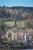 Llangollen Methodist Church seen from across the river.