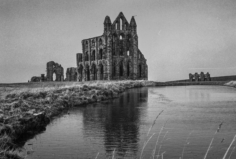 Whitby Abbey - Scanned from Ilford film negative either XP2 or Delta.