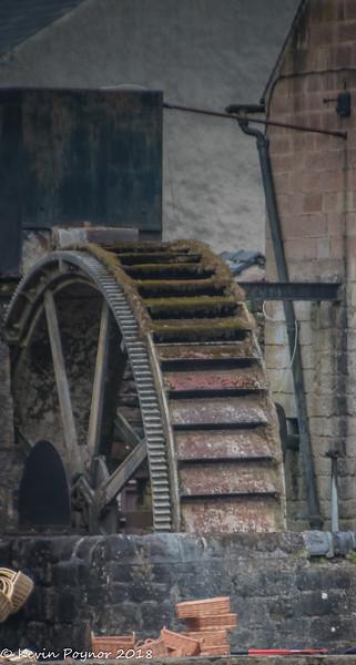 Waterwheel in Cromford village.