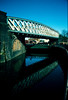The ex-Great Central Bowstring Bridge (c.2002) now sadly demolished to make way for a new sports centre for Demontfort University.
