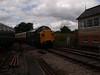 Class 37 passing Totnes signal box.