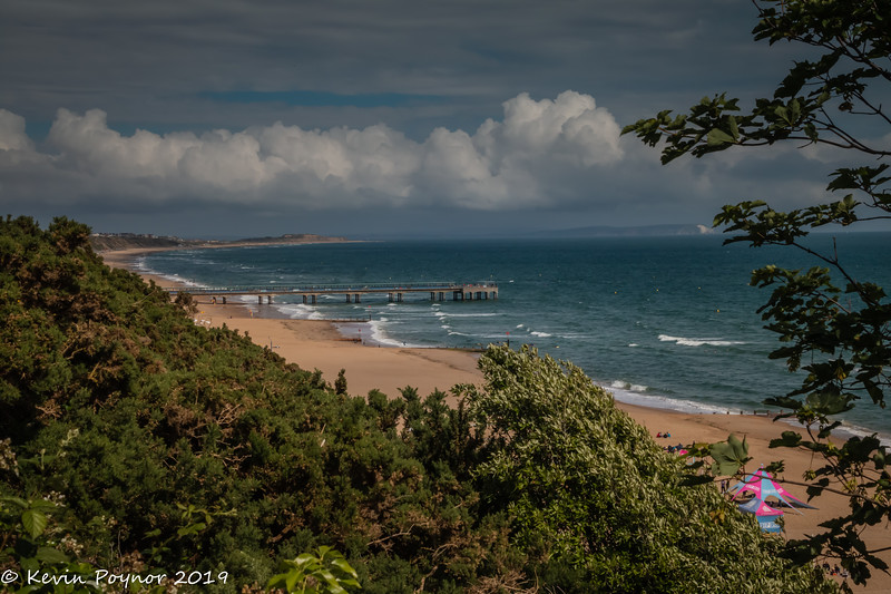 Boscombe Pier - View from East Overcliff looking towards Christchurch
