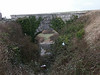 Looking down through a series of bridges, Portland Quarry and High Battery