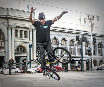 Pete Brandt  showing off at Embarcadero.
