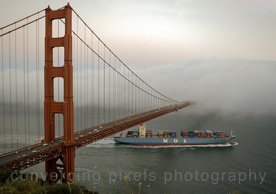 Golden Gate Bridge from the Marin Headlands.