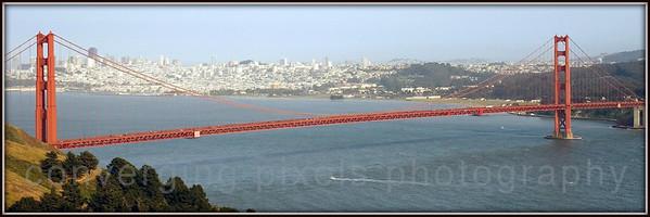 "Golden Gate Bridge "" GGB #5 (10x30)""  Taken from the Marin Headlands not far from Pt. Bonitas."
