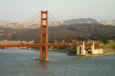 "Golden Gate Bridge; "" GGB #14 "". Taken from the Marin Headlands not far from Pt. Bonitas."