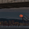A view of Alameda from Yerba Buena Island during a harvest moon.