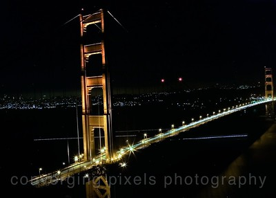"Golden Gate Bridge; "" GGB night #1"" taken from the Marin Headlines."