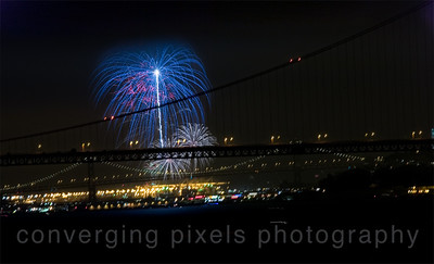 Golden Gate Bridge  during the 4th of July,2011
