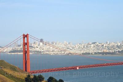 "Golden Gate Bridge; "" GGB #6 "". Taken from the Marin Headlands not far from Pt. Bonitas."