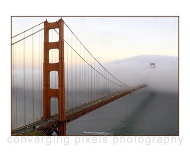 "Golden Gate Bridge; "" GGB #9"" taken from the Marin Headlines."