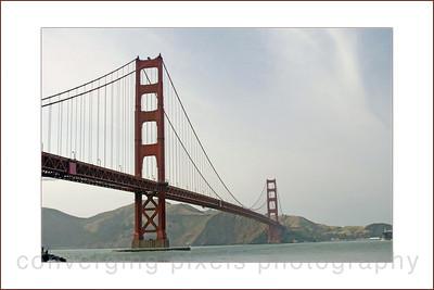 """""""Golden Gate Bridge w/border 12x18a""""  taken from Crissy Field."""