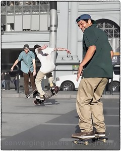 Skateboarder at Embarcadero.