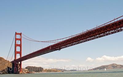 Golden Gate Bridge taken from the ferry.