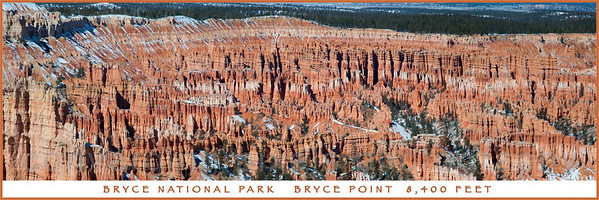 Amphitheater at Bryce Point. Panoramic.