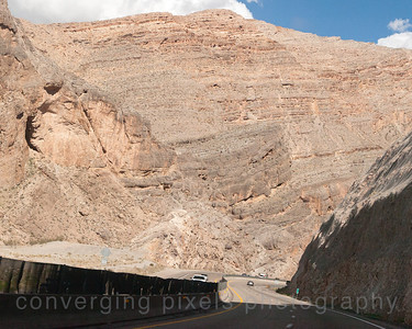 Passing through the Virgin River Gorge in Arizona on Hwy 15.
