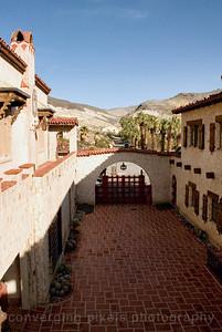 """Scotty's Castle """"View of driveway"""""""