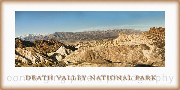 """Panoramic 9x18""  Taken during sunrise at Zabriski Pt."