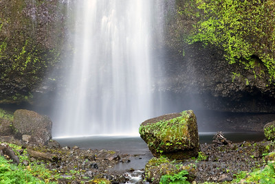 """Multomah Falls 2"" , Columbia River Gorge, Oregon side."
