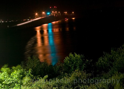 """Youngs Bay Bridge"" - Taken at night from hotel room in Astoria, Oregon."