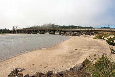 Alsea Bay Bridge near Waldport, Oregon.   9162