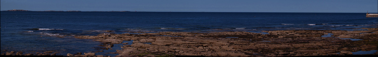 View towards the Farne Islands from Seahouses.