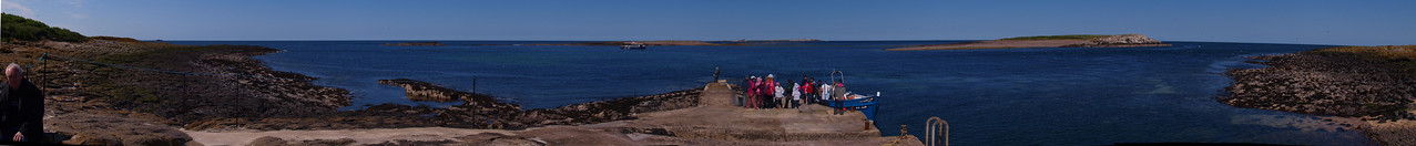 The landing stage at Inner Farne.