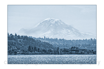 """Mt. Rainier"" behind Seattle."