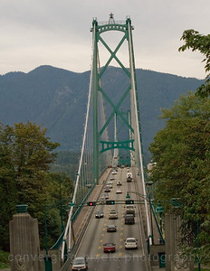 "Lions Gate Bridge, Vancouver. ""Lions Gate # 3 "" Taken from Stanley Park, Vancouver, BC."