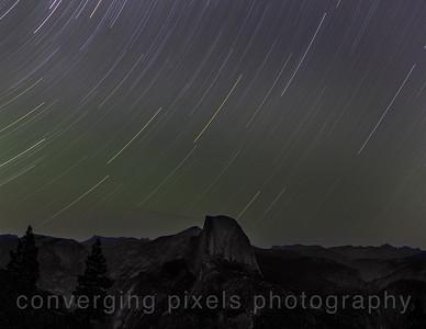Star Trails taken at Glacier Pt., Yosemite  Aug. 8,13  (taken for 45 min.)