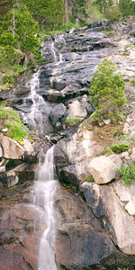 Lake Tahoe hwy 89-waterfall taken at 8:50 pm while we were waiting for the moon's rays to shine on the Nordic House at Emerald Bay.  Temperature outside about 70 degrees...really warm.