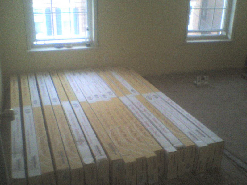 Half the order of flooring