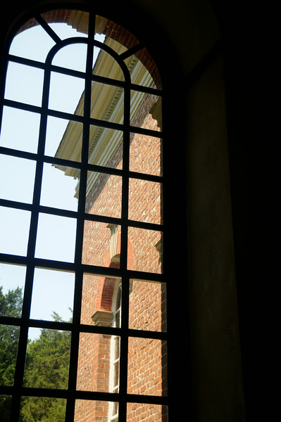Window in 1735 Christ Church in Weems, Virginia