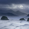 Looking toward Canon Beach during a storm