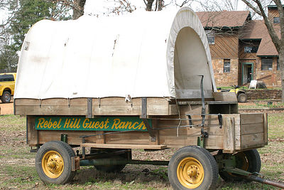 Taken with my Bigma Lens. The Covered Wagon for taking Guests on a ride if they're afraid of getting on a Horse. Haha!