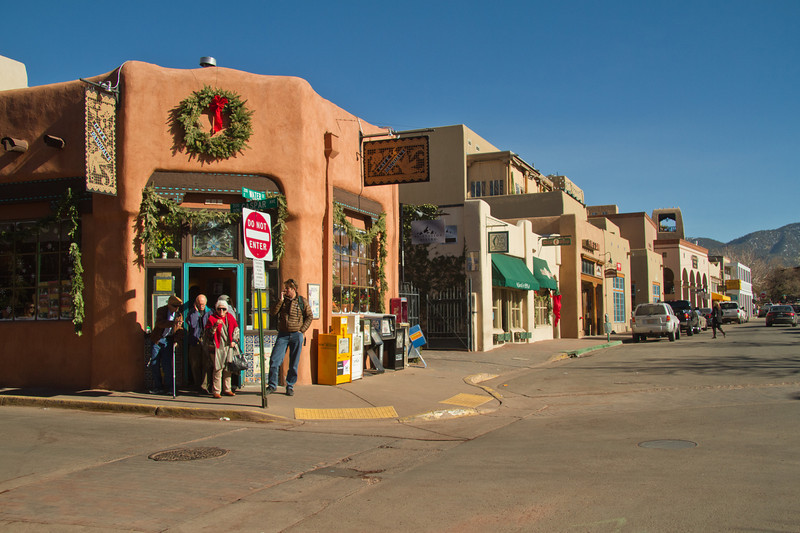 Waiting at Cafe Pasquale's, Santa Fe, New Mexico. December 2013.