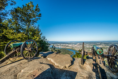 The View from the Lookout Mountain/  Chattanooga Civil War Battlefield