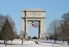 The National Memorial Arch  completed in 1914, Valley Forge National Park, Pennsylvania.