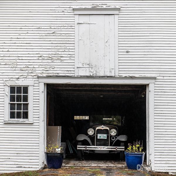 Old Barn & Car